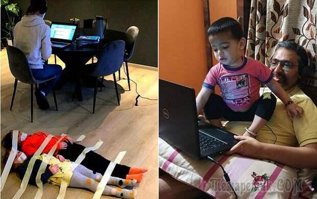 Родители, которые совмещают работу и заботу о детях, как могут