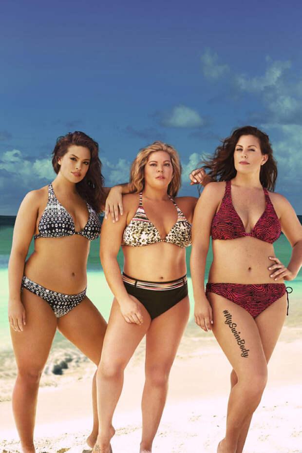Боди-позитив в рекламе купальников