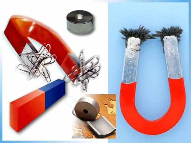 Физические опыты: рамка + магнит + батарейка