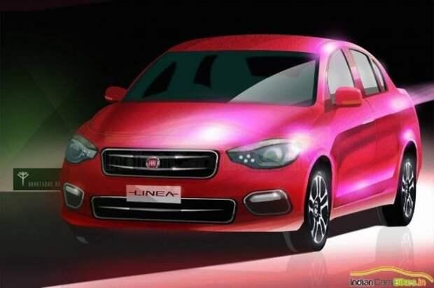 Вариант внешности будущего Fiat Linea