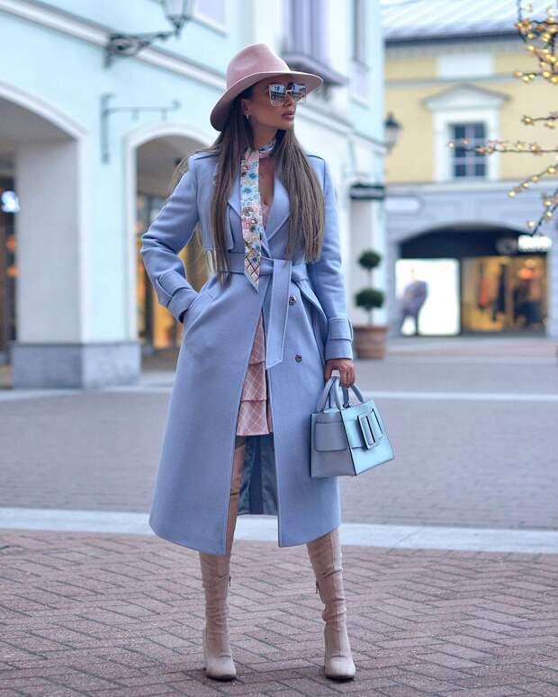 15 безупречных идей как модно носить платок с пальто