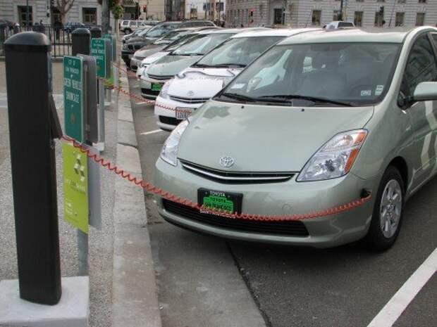 Электромобили на улицах Сан-Франциско