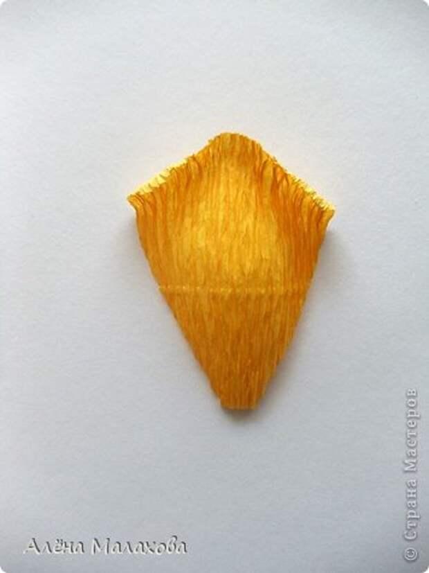 Мастер-класс Роза из гофрированной бумаги Бумага гофрированная Клей фото 21