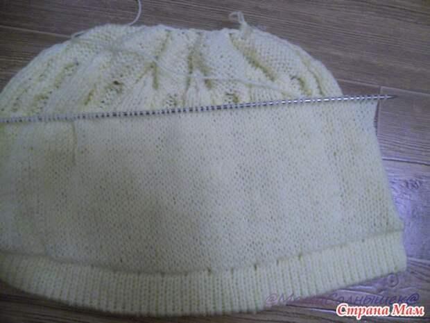 Двухслойная шапочка с помпоном. МК