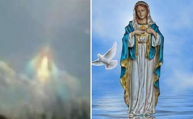 В Аргентине запечатлели в небе образ «Девы Марии»