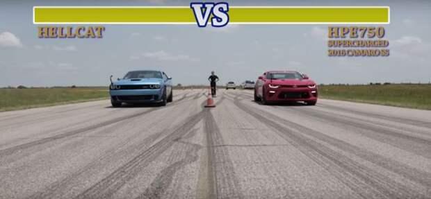 Демонические Dodge и Chevrolet выяснили отношения на «ринге»