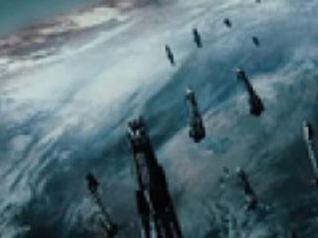 Поле битвы пришельцев друг с другом - средневековая Земля