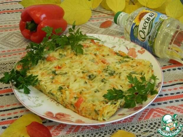 Запеканка капустная с картофелем, перцем и морковью