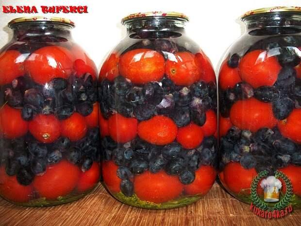 Маринованный виноград с помидорами (МК от Елены)