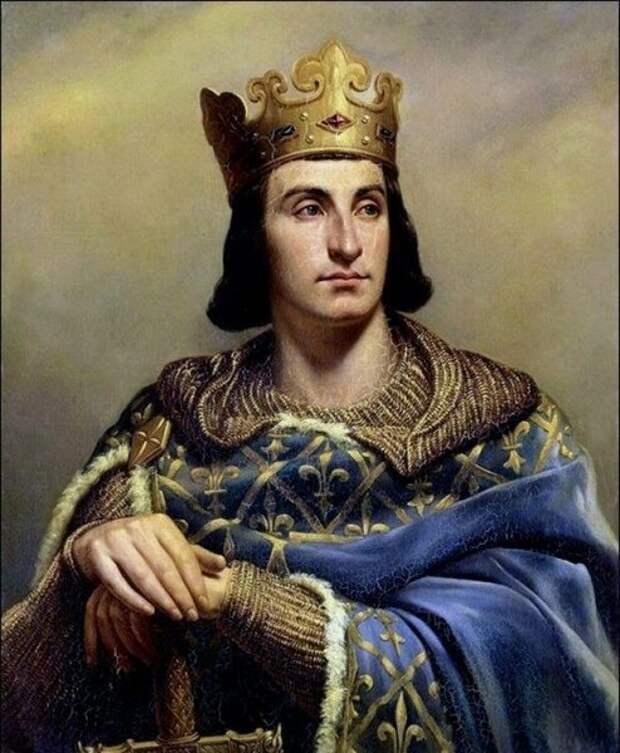 Король Франции Филипп IV по прозвищу Красивый.  С картины художника. Фото из открытых источников
