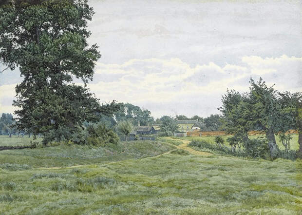 Деревня на болотах (A village in the Fens). 1886 (656x467, 366Kb)