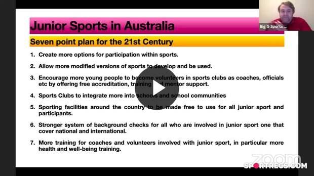 Junior Sports in Australia: New Model for a New Century