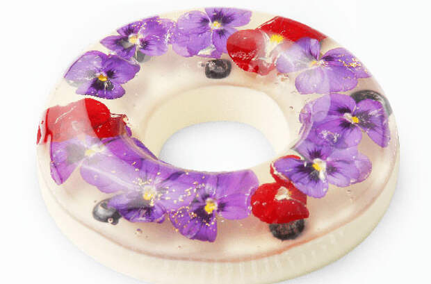 Японские десерты с цветами, которые жалко есть десерт, желе, цветок, япония