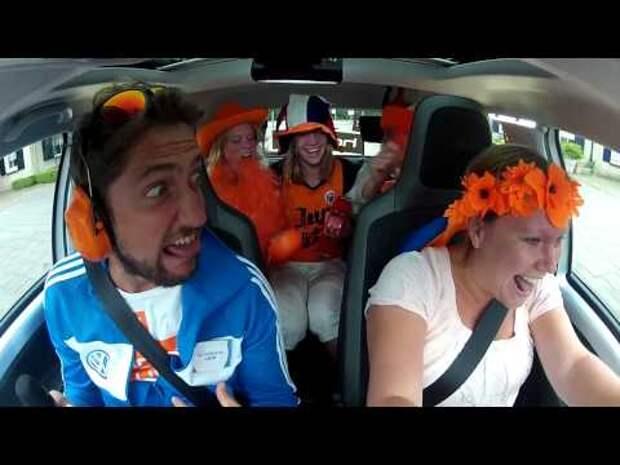 """Volkswagen запустил минипроект """"Up! Holland Up!"""" на олимпийскую тему, в рамках которого проверил эмоциональность голландских фанатов."""