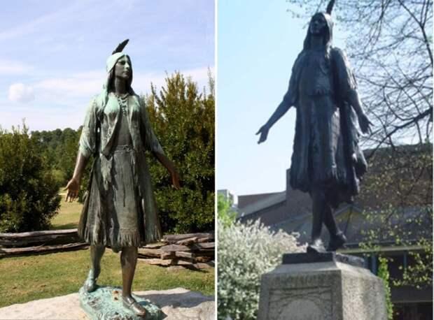 Памятник Покахонтас в Великобритании