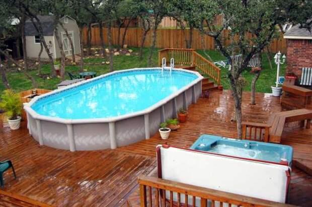 Открытый бассейн на участке - фото 1