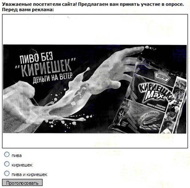 Опрос на сайте УФАС по Свердловской области