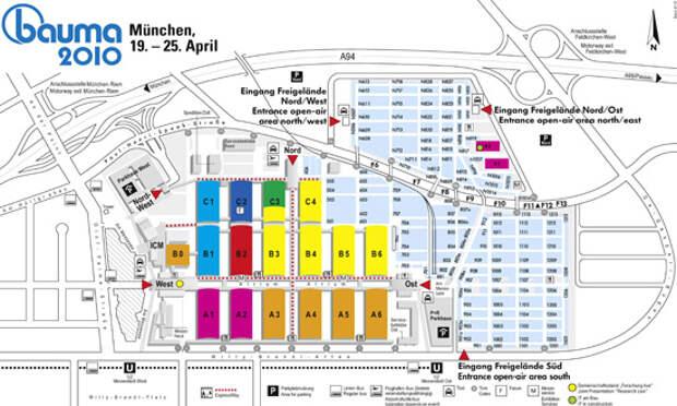 Схема выставки BAUMA-2010