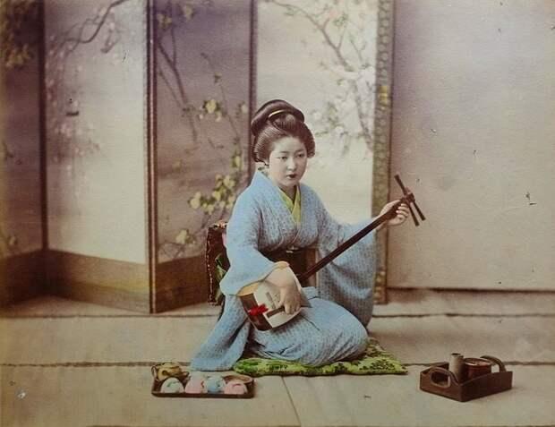 Старинная японская фотография XIX века