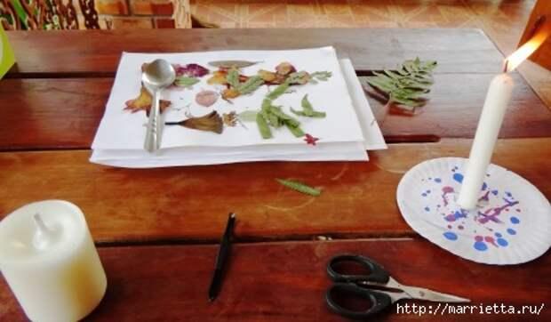 как сделать свечу с сухоцветами своими руками (10) (448x262, 77Kb)