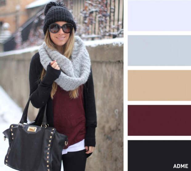 Удачные цветовые сочетания шапок и шарфов