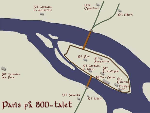 План Парижа начала IX века - Париж: город, созданный для обороны | Военно-исторический портал Warspot.ru