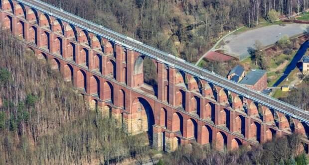 Germany saxony road bridge trees 1920x1200