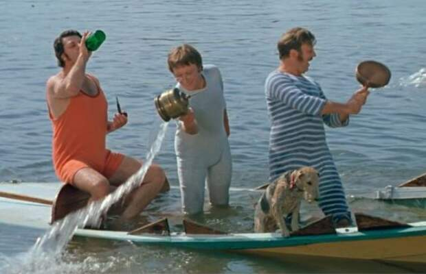 Кадр из фильма *Трое в лодке, не считая собаки*, 1979