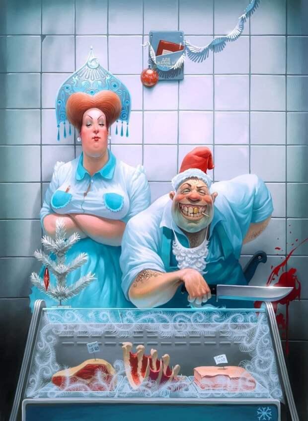 Сатирические и злободневные иллюстрации о сумасшедшем мире
