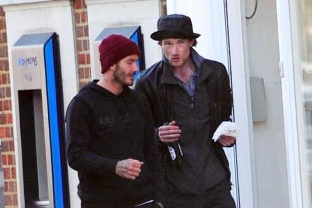 Дэвид Бэкхем купил бездомному бургер и пиво во время прогулки по Лондону