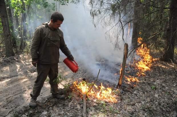 Первый случай возгорания сухой травы зафиксирован в Нижегородской области