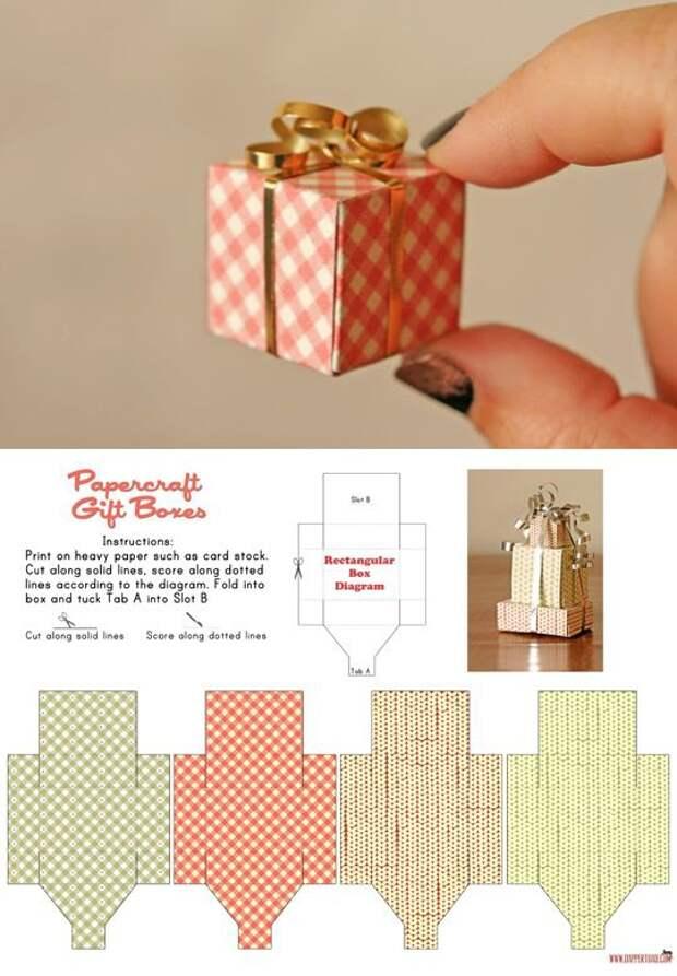 Упаковка микроподарка (шаблон)