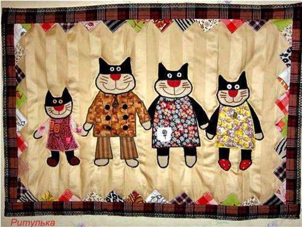 Милый пэчворк с кошками :)