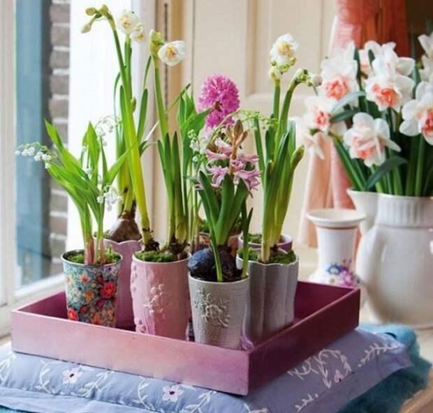Подставка под горшки для полива цветов