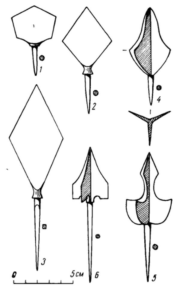 Татаро-монгольские наконечники стрел в Восточной Европе