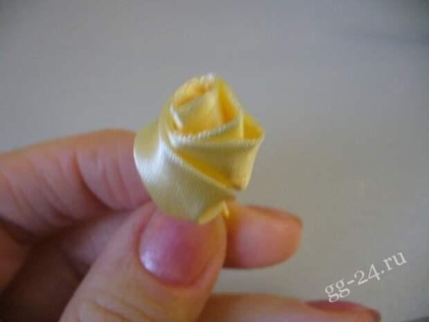 Цветок из ленты