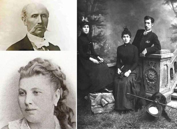 Родители Матильды -Феликс Кшесинский и Юлия Доминская. Матильда, Юлия и брат Иосиф.