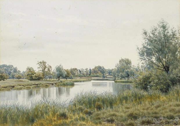 Летний речной пейзаж (River landscape in summer). 1893 (656x461, 288Kb)