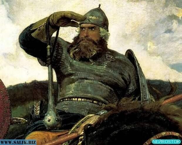 Фрагмент картины *Богатыри* В. Васнецова.