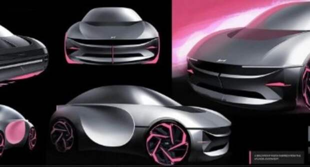 На рендерах показали крошечный хэтчбек Hyundai Blink