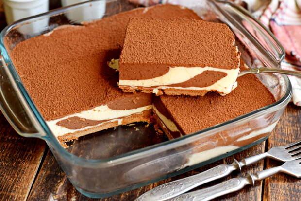 Торт «Зебра» на сметане – без духовки, без выпечки, безумно вкусный