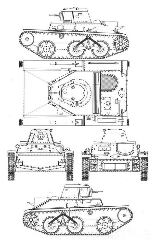 На рисунке - чертеж Т-43-1 Исто́рия, военное, плавающие танки, советские танки, танки, танки РККА