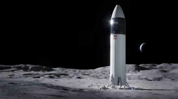 Компания SpaseX Илона Маска разработает посадочный модуль для доставки астронавтов США на поверхность Луны