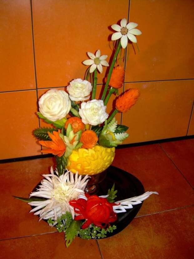 Карвинг - Цветы в корзинке