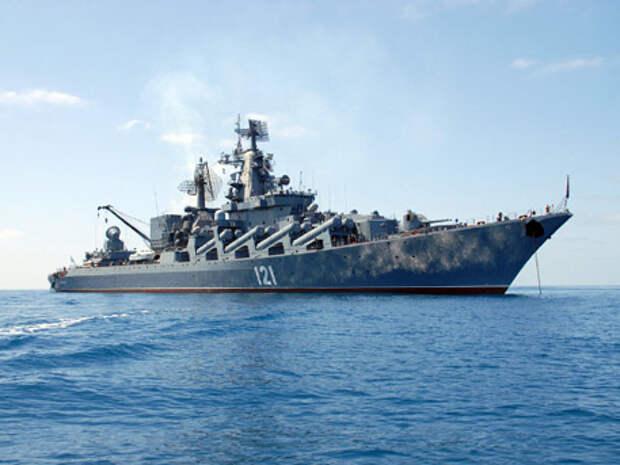 Ракетный крейсер «Москва» прошел Босфор