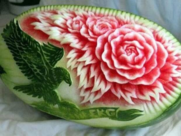 Карвинг - Розы из арбуза