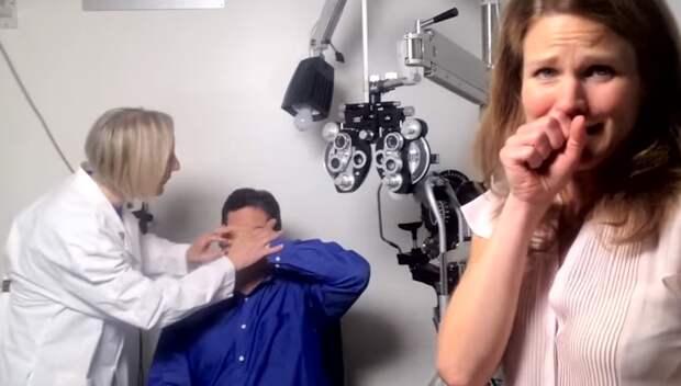 Увидеть жену впервые за 20 лет. Как люди, которым вернули зрение или слух, реагируют на мир