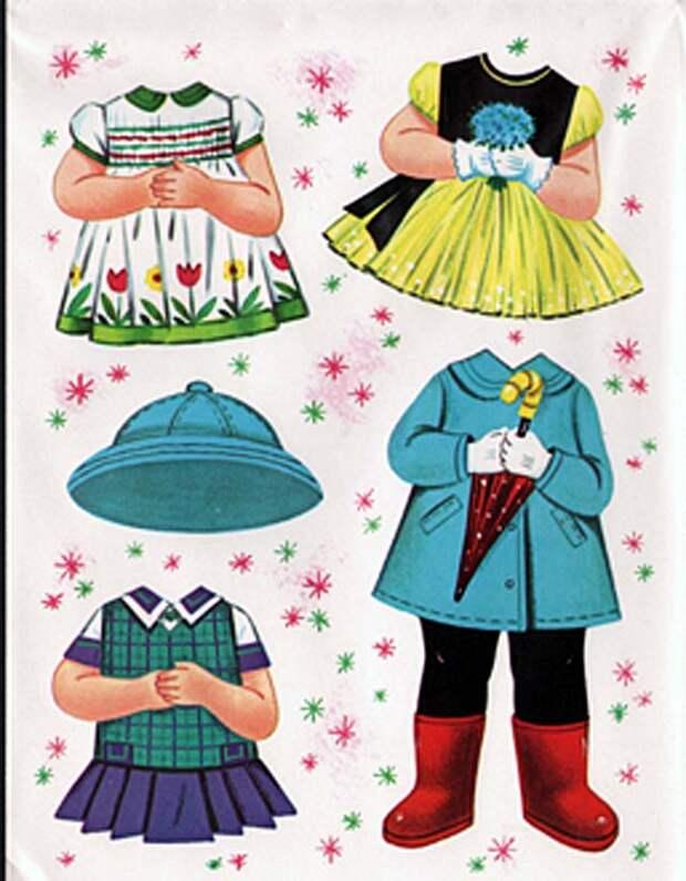 бумажные куклы для вырезания