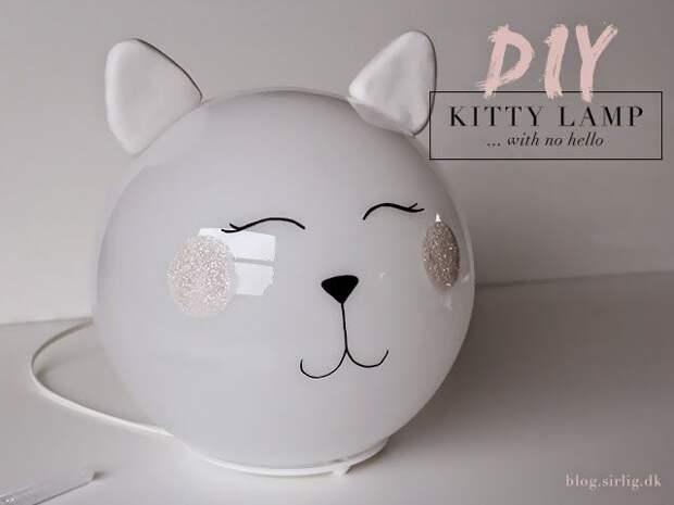 Кошачий светильник в детскую (Diy)