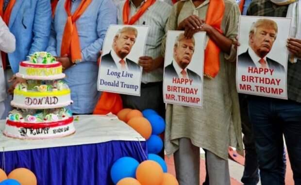 70 лет в обед: Дональд Трамп отметил юбилей!
